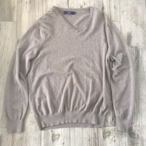 J Crew Brown V-Nexk Sweater Size L